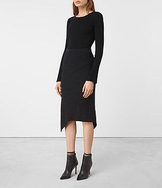 Femmes Keld Merino Skirt (Cinder Black Marl) - product_image_alt_text_3