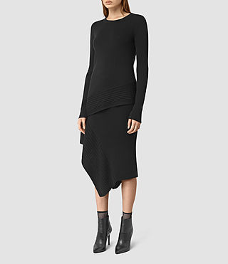 Women's Keld Merino Skirt (Black) -