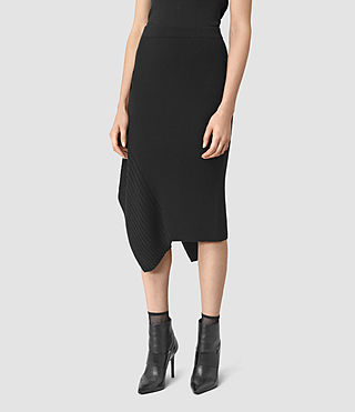 Damen Keld Merino Skirt (Black) - product_image_alt_text_2