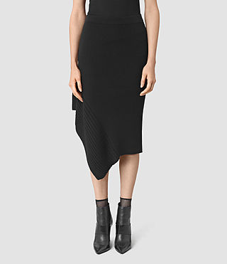 Damen Keld Merino Skirt (Black) - product_image_alt_text_3
