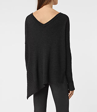 Womens Keld V-Neck Sweater (Cinder Black Marl) - product_image_alt_text_3