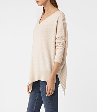 Damen Keld V-Neck Jumper (ALMOND PINK MARL) - product_image_alt_text_2
