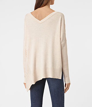 Damen Keld V-Neck Jumper (ALMOND PINK MARL) - product_image_alt_text_3