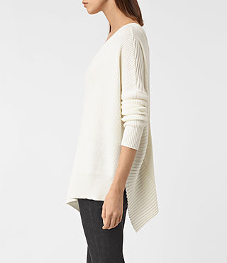 Womens Keld V-Neck Sweater (Chalk White) - product_image_alt_text_2