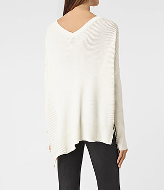 Womens Keld V-Neck Sweater (Chalk White) - product_image_alt_text_3