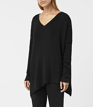 Womens Keld V-Neck Sweater (Black) - product_image_alt_text_2