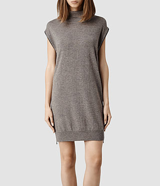 Womens Kaninda Sweater Dress (Fawn Marl)