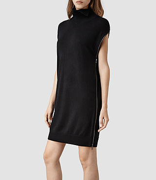Womens Kaninda Sweater Dress (Black)