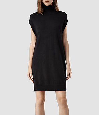 Womens Kaninda Sweater Dress (Black) - product_image_alt_text_2