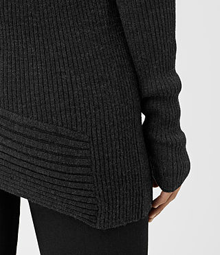 Mujer Keld Crew Neck Sweater (Cinder Black Marl) - product_image_alt_text_3