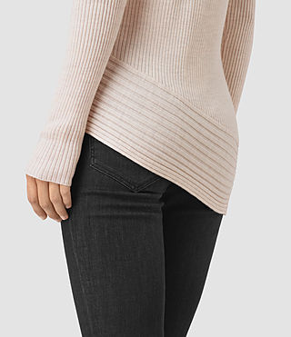 Womens Keld Crew Neck Sweater (ALMOND PINK MARL) - product_image_alt_text_2