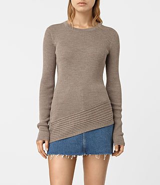 Mujer Keld Crew Neck Sweater (LUNAR GREY) - product_image_alt_text_1