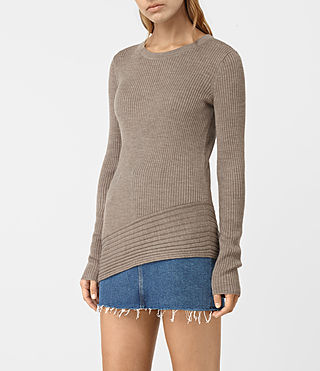 Mujer Keld Crew Neck Sweater (LUNAR GREY) - product_image_alt_text_3