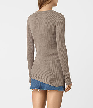 Mujer Keld Crew Neck Sweater (LUNAR GREY) - product_image_alt_text_4