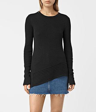 Womens Keld Crew Neck Sweater (Black)