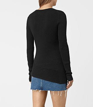 Femmes Keld Crew Neck Jumper (Black) - product_image_alt_text_4