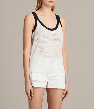 Women's Covey Vest (CHALK WHT/INK BLUE) - product_image_alt_text_2