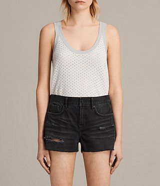 Mujer Camiseta Covey (CHALK WHITE/GREY) - product_image_alt_text_1