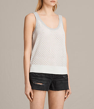 Mujer Camiseta Covey (CHALK WHITE/GREY) - product_image_alt_text_2