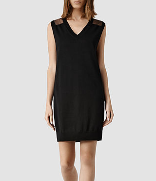 Womens Aiva Sweater Dress (Black)