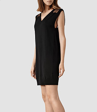 Womens Aiva Sweater Dress (Black) - product_image_alt_text_2