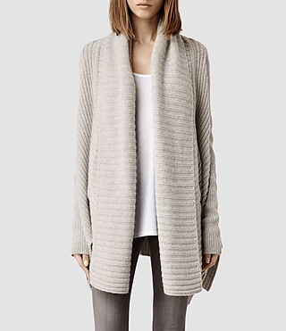 Womens Sefir Cardigan (Marble Grey)