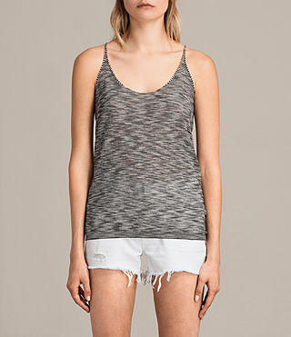 Womens Blyth Striped Vest (Black/White) - product_image_alt_text_1