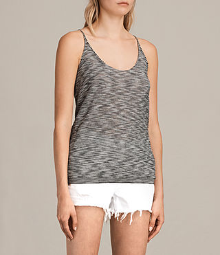 Womens Blyth Striped Vest (Black/White) - product_image_alt_text_4