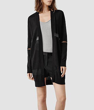 Womens Filament Cardigan (Black)