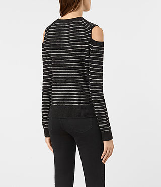 Womens Mull Sweater (CINDER BLACK/CHALK) - product_image_alt_text_4