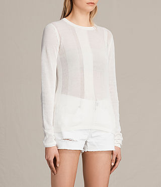 Donne Springs Crew Jumper (Chalk White) - product_image_alt_text_2