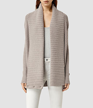 Womens Leni Cardigan (LUNAR GREY)