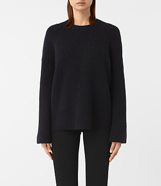Damen Jago Crew Neck Jumper (Ink Blue)