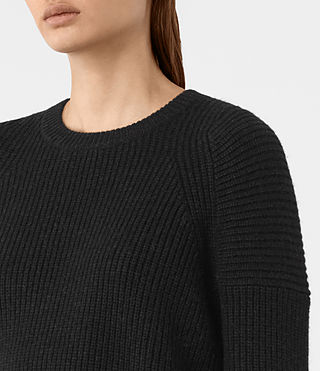 Womens Jago Crew Neck Sweater (Cinder Black Marl) - product_image_alt_text_2