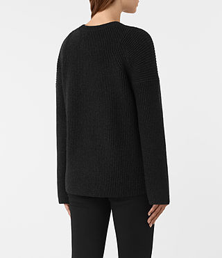 Womens Jago Crew Neck Sweater (Cinder Black Marl) - product_image_alt_text_4