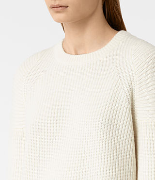 Damen Jago Crew Neck Jumper (Chalk White)