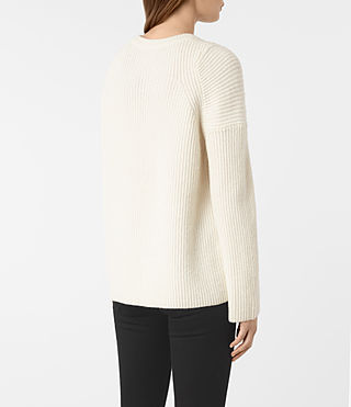 Women's Jago Crew Neck Jumper (Chalk White) - product_image_alt_text_4