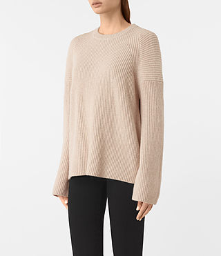 Women's Jago Crew Neck Jumper (Quartz) - product_image_alt_text_3