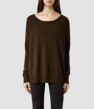 Womens Char Cashmere Sweater (Olivene)