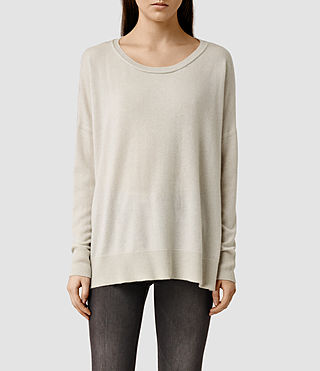 Womens Char Cashmere Sweater (PORCELAIN WHITE)
