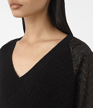 Women's Fia Embroidered Jumper (Black) - product_image_alt_text_2