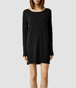 Womens Char Cashmere Sweater Dress (Cinder)