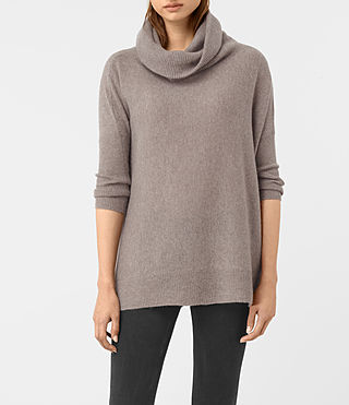 Womens Tiff Cashmere Jumper (LUNAR GREY)