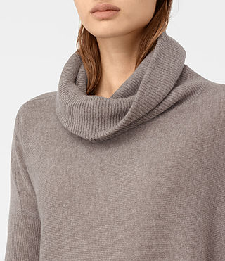 Mujer Tiff Cashmere Sweater (LUNAR GREY) - product_image_alt_text_2