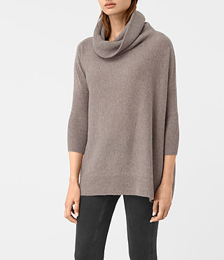 Mujer Tiff Cashmere Sweater (LUNAR GREY) - product_image_alt_text_3