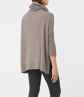 Mujer Tiff Cashmere Sweater (LUNAR GREY) - product_image_alt_text_4