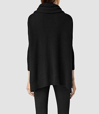 Womens Tiff Cashmere Sweater (Black) - product_image_alt_text_3