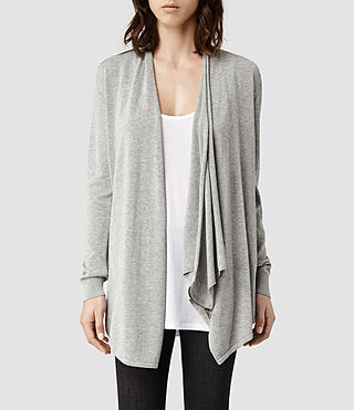 Womens Drina Kandi Cardigan (Grey Marl)