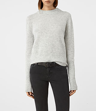 Womens Alpha Crew Neck Sweater (Mist Marl) - product_image_alt_text_1