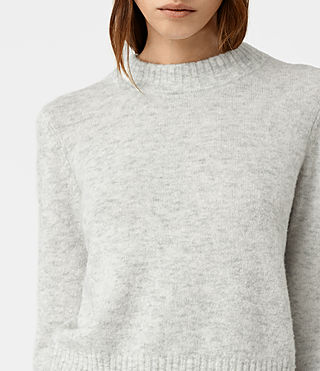 Womens Alpha Crew Neck Sweater (Mist Marl) - product_image_alt_text_2